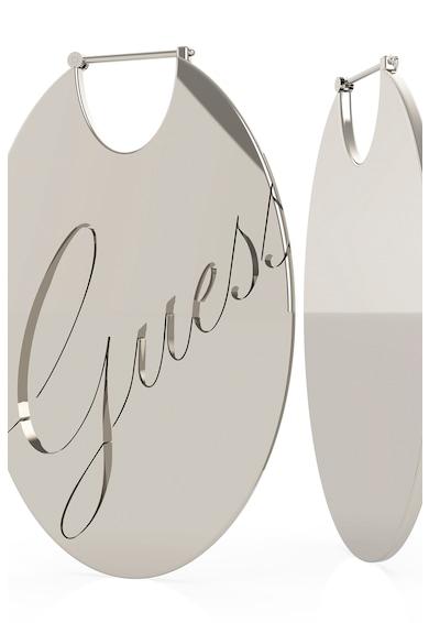 Guess Cercei ovali din otel inoxidabil cu logo gravat Femei