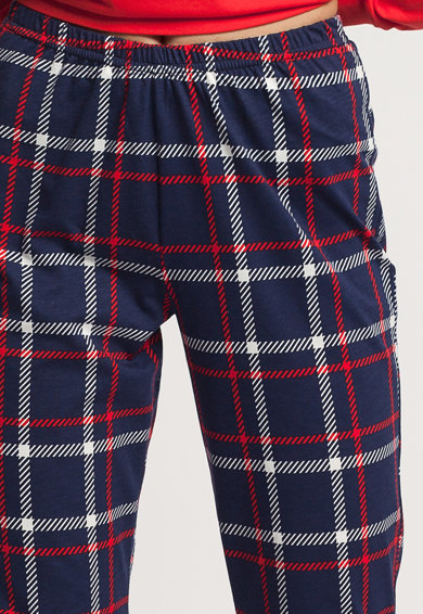Sofiaman Pijama cu pantaloni in carouri Dilan Femei