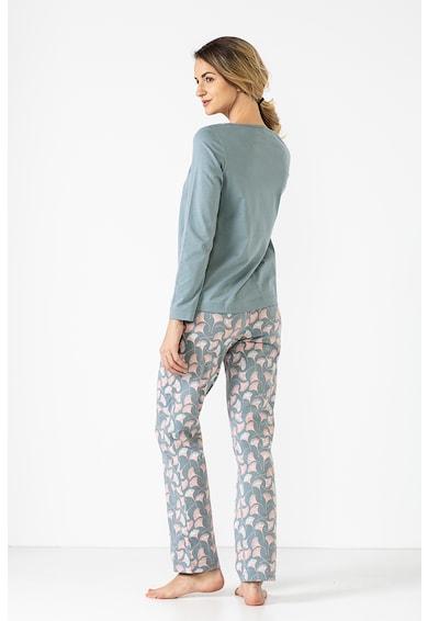 Sofiaman Pijama de bumbac organic cu imprimeu Ginko Femei
