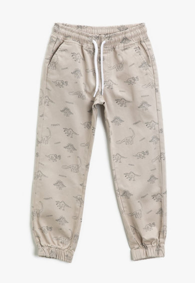 KOTON Pantaloni cu imprimeu cu dinozauri Baieti