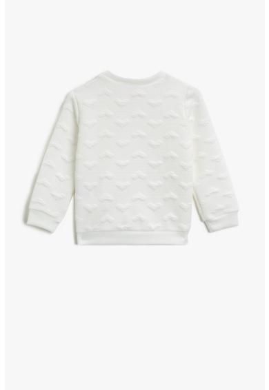 KOTON Bluza sport texturata cu decolteu la baza gatului Fete