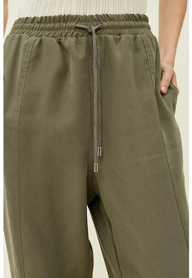KOTON Pantaloni cu talie inalta si snururi in talie Femei