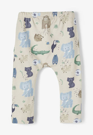 NAME IT Pantaloni sport din amestec de modal si bumbac organic cu snur Baieti