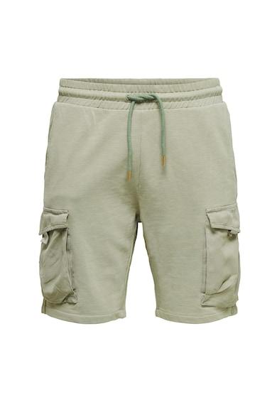 Only & Sons Pantaloni sport scurti cu buzunare cu clapa Barbati
