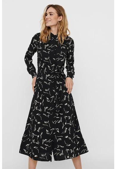 Vero Moda Rochie tip camasa cu imprimeu grafic Dea Femei