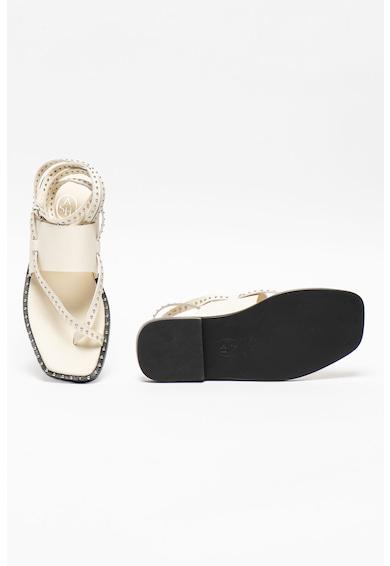 ASH Sandale din piele cu model petrecut si aplicatii cu tinte Medusa Femei