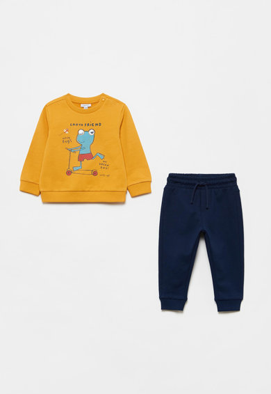 OVS Set de bluza sport cu imprimeu si pantaloni sport Baieti