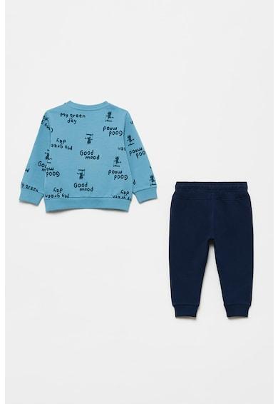 OVS Set de bluza sport cu imprimeu text si pantaloni sport - 2 piese Baieti