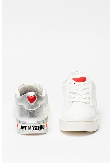 Love Moschino Pantofi sport de piele cu design colorblock Femei