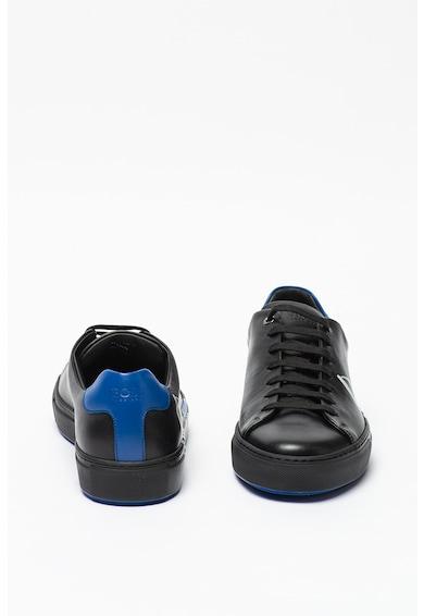 Boss Pantofi sport de piele cu imprimeu logo Mirage Barbati
