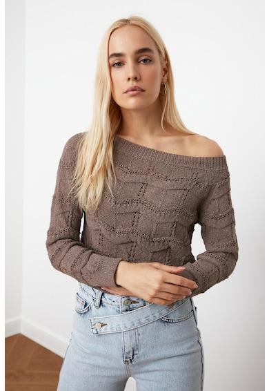 Trendyol Pulover tricotat cu decupaje Femei