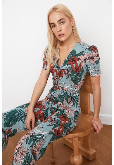 Trendyol Salopeta lunga cu decolteu in V si imprimeu floral Femei
