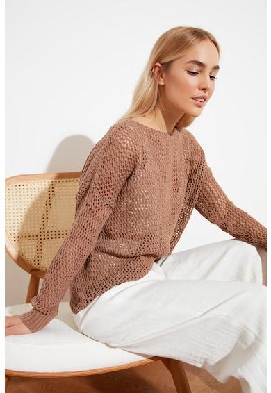 Trendyol Pulover tricotat lejer cu aspect transparent Femei