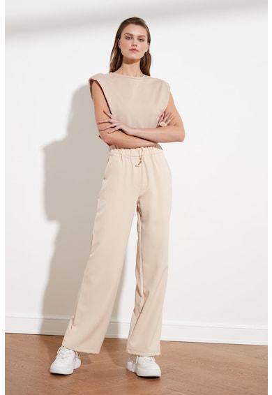 Trendyol Pantaloni sport cu snur de ajustare si talie inalta Femei