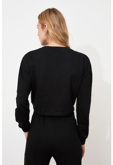Trendyol Set de pantaloni si bluza crop sport - 2 piese Femei