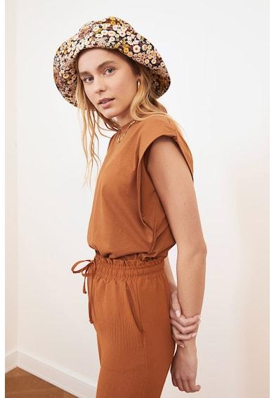 Trendyol Tricou cu maneci aripioara structurate Femei