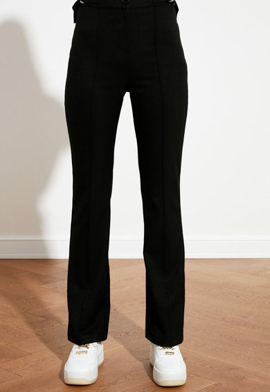 Trendyol Pantaloni cu talie inalta si croiala bootcut Femei