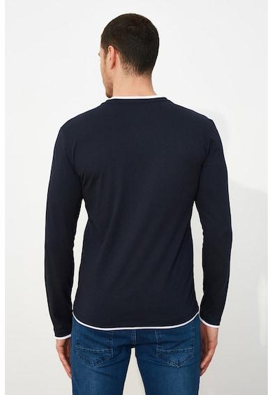 Trendyol Bluza slim fit cu garnituri contrastante Barbati