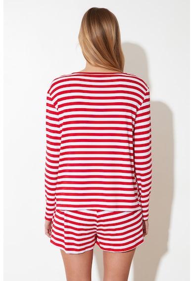 Trendyol Pijama scurta in dungi Femei