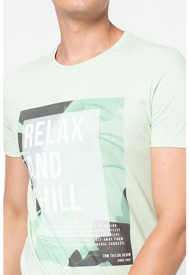 Tom Tailor Tricou de bumbac cu imprimeu Barbati