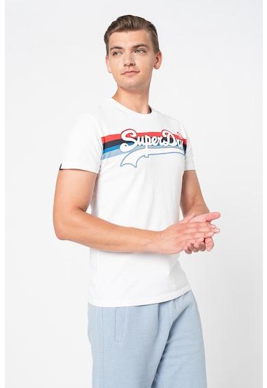 SUPERDRY Tricou cu imprimeu logo si decolteu la baza gatului Barbati