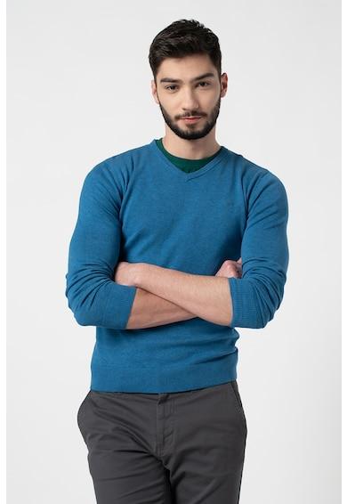 Tom Tailor Pulover tricotat fin cu decolteu in V Barbati