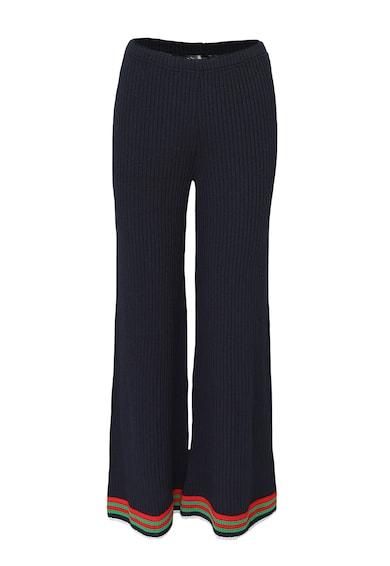 Acob à porter Pantaloni tricotati cu croiala ampla si mansete contrastante Femei