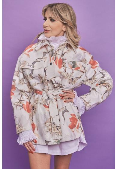 MIAU by Clara Rotescu Jacheta din amestec de lana si casmir cu imprimeu Joy Femei