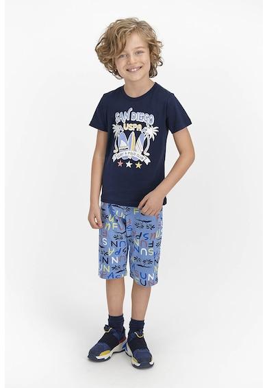 U.S. Polo Assn. Pijama cu pantaloni scurti si imprimeu logo Baieti