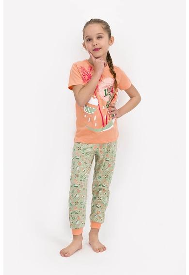 U.S. Polo Assn. Pijama cu imprimeu grafic Fete