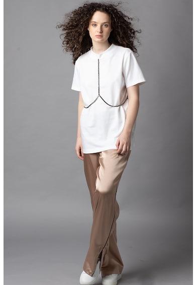 PARLOR Tricou de bumbac cu strasuri Femei