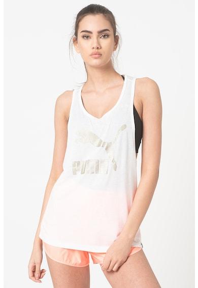 Puma Top cu imprimeu logo pentru fitness Classics Femei