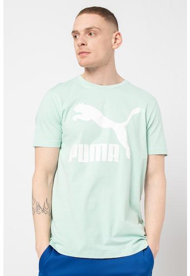 Puma Tricou cu decolteu la baza gatului si imprimeu logo Classics Barbati