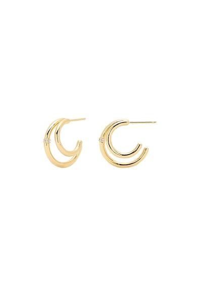PDPAOLA Cercei de argint 925 placati cu aur de 18K Femei