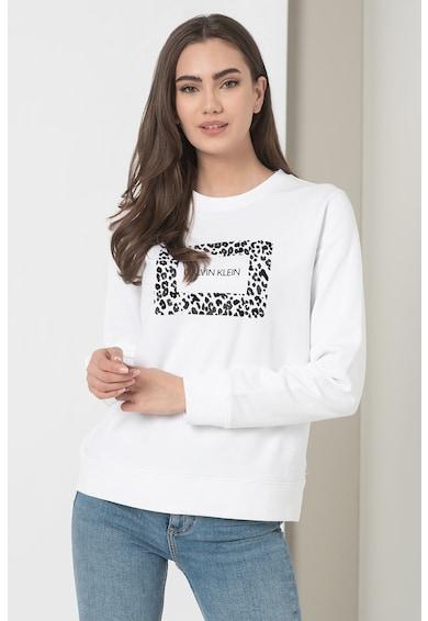 CALVIN KLEIN Bluza sport din amestec de bumbac cu logo Femei