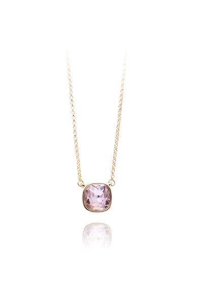 Annie Rosewood Set de cercei placati cu aur si colier decorat cu perle si cristale Femei