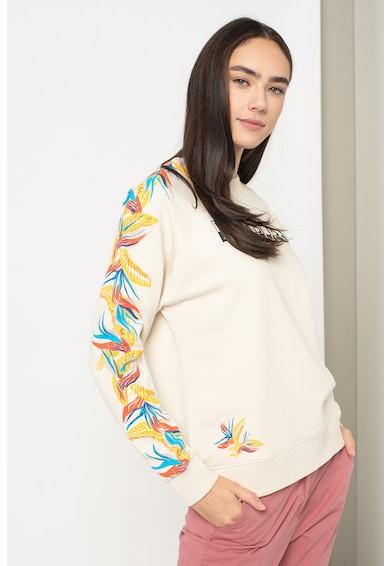 Napapijri Bluza sport cu logo si imprimeu tropical Belor Femei