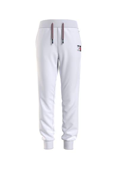 Tommy Hilfiger Pantaloni jogger cu croiala conica si snur de ajustare in talie Fete