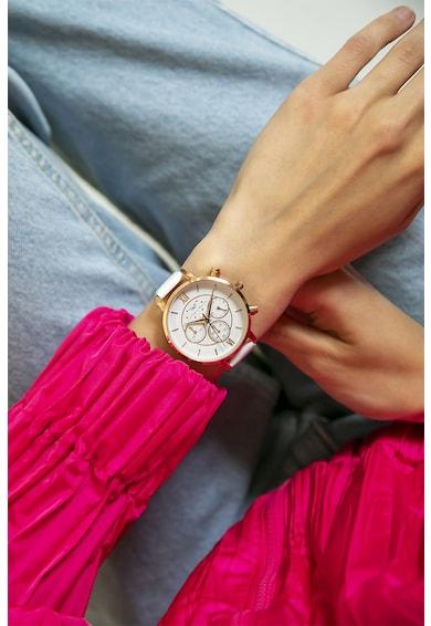 Victoria Walls Ceas cronograf cu o curea de piele si detaliu logo Femei