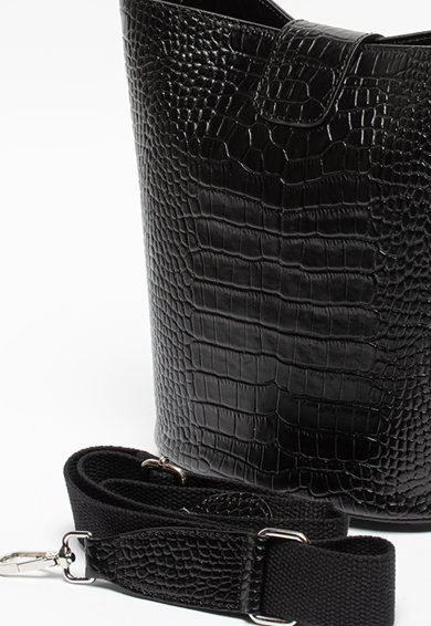 Chiara Canotti Geanta bucket de piele cu aspect de piele de crocodil Femei