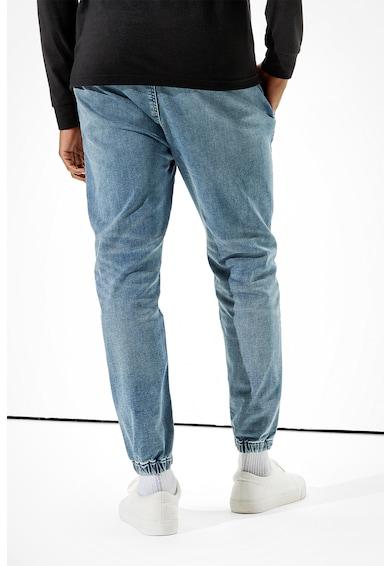 American Eagle Pantaloni jogger slim fit din denim Barbati