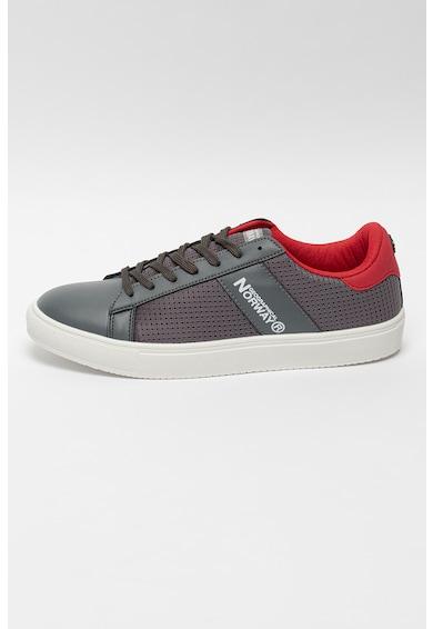 Geographical Norway Pantofi sport de plasa cu segmente de piele ecologica Barbati