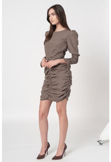 Missguided Rochie mini cu drapaje si imprimeu in carouri Femei