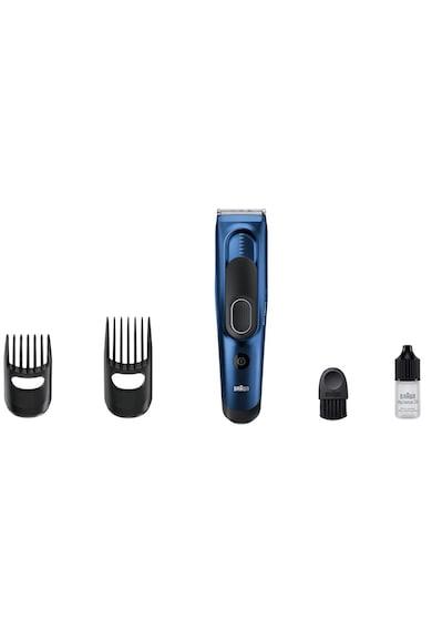 Braun Aparat de tuns  HC5030, 17 setari lungime, 2 accesorii, Lavabil, Albastru/Negru Barbati