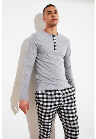 Trendyol Pijama lunga din amestec de bumbac Barbati