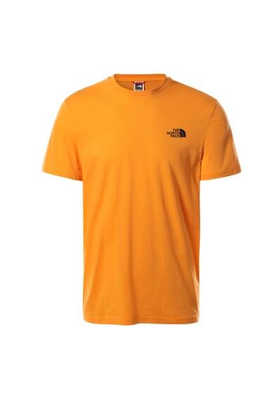 The North Face Tricou cu decolteu la baza gatului si logo Simple Dome Barbati