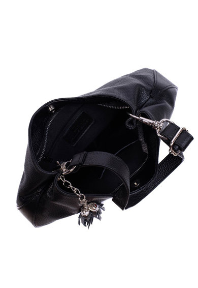 Zevo Geanta de piele cu bareta de umar si canaf Anna Femei