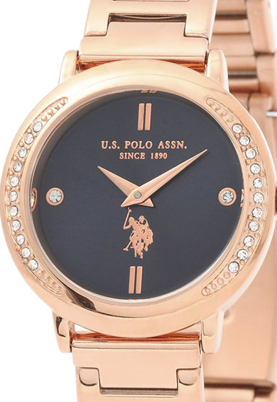 U.S. Polo Assn. Ceas analog decorat cu zirconia Femei