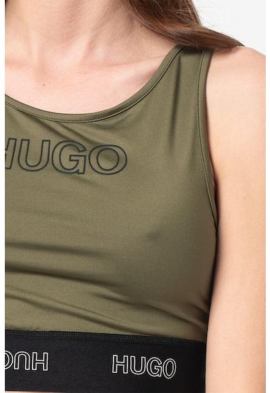 HUGO Top crop cu logo Dimsum Femei
