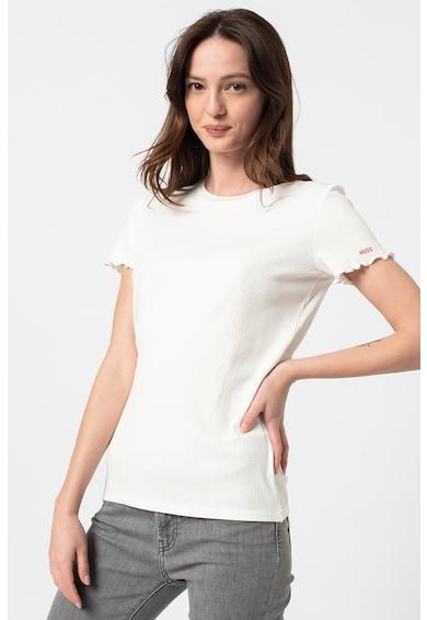 HUGO Tricou cu margini valurite Femei